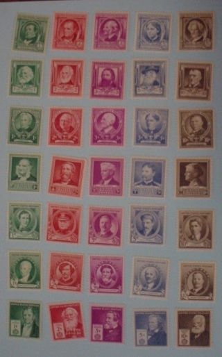 Us 859 - 893 Famous Americans Issues, photo