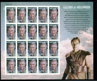 4892 Charlton Heston Legends Of Hollywood Sheet Of 20 photo