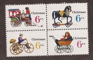 Scott 1407 - 1410 - - Block Of 4 Christmas photo