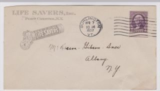 Port Chester Ny 1937 Live Savers Advertising Cover photo