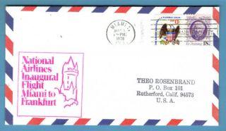 Fam32,  F32 - 15f,  Miami/amf - Frankfurt,  National Airlines Airmail 1st Flight 1978 photo