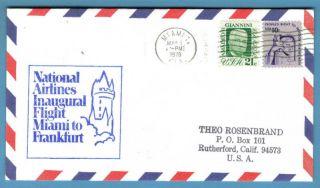 Fam32,  F32 - 15,  Miami / Frankfurt,  1978 National Airlines Airmail 1st Flight photo