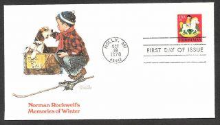 Sc 1769 - Christmas - Boys With Dog - Norman Rockwell - Fleetwod - - 1978 photo