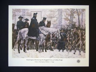 Washington Reviewing His Ragged Army At Valley Forge,  Sc 1689 photo