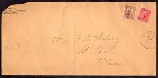 Osceola Ia To St Paul Mn 1903 Registered Cover Sc 307 photo