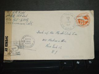 Apo 468 Batangas,  Luzon,  Philippines 1945 Censored Wwii Cover 14th Ab Mp Det photo