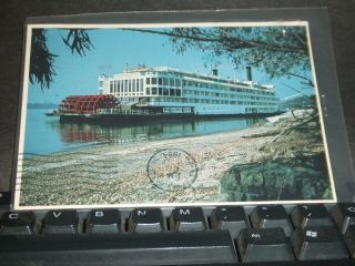 Paddle Wheel Steamboat Mississippi Queen Naval Cover 1984 Postcard photo