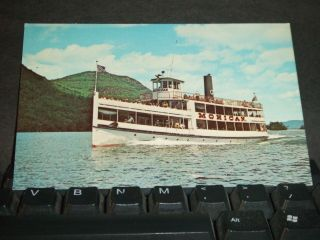 Mv Mohican On Lake George,  Ny Naval Cover Postcard photo