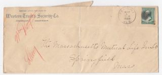 Fremont Nebraska Western Trust & Security Co 1888 Advertising Cover photo
