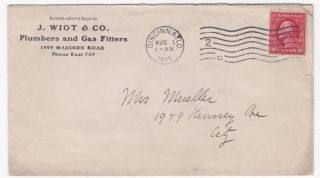 Cincinnati Ohio 1913 Plumbers & Gas Fitter Corner Card On Cover photo