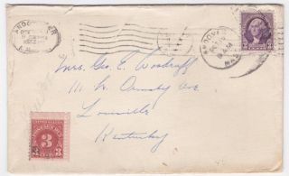 Andover Ma To Louisville Kentucky 1930 ' S Cover With Postage Due photo