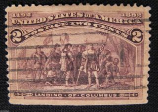 1893 The Columbians Landing Of Columbus Scotts Us - 231 Brown 2 Cents Whotoldya photo