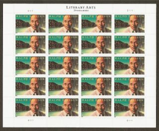 91c Ralph Ellison - 2014 Issue - Sheet Of 20 photo