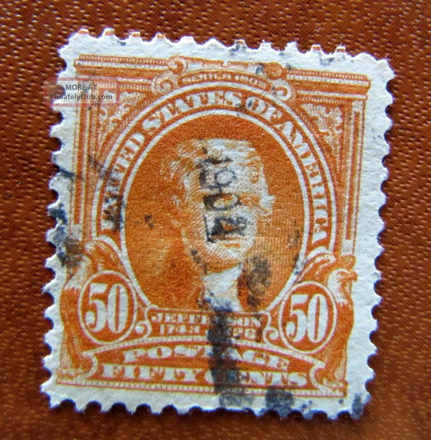 310 4 Margins Regular Issue 50 Cent 1901 Us Stamp D692 United States photo