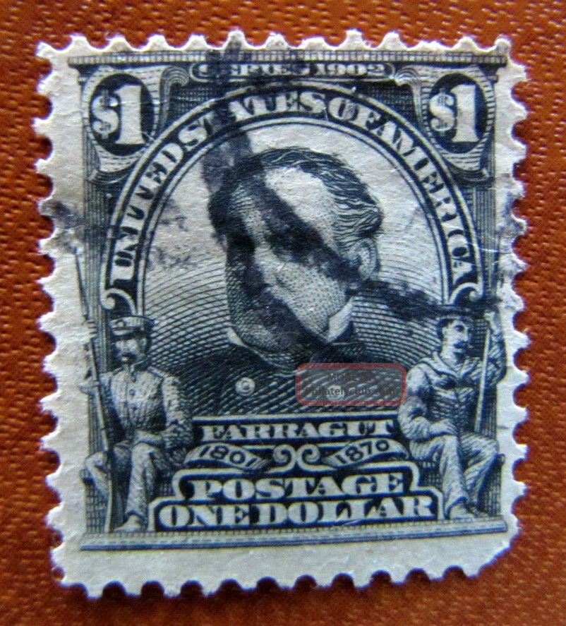 311 Farragut Regular Issue $1.  00 1901 Us Stamp D693 United States photo