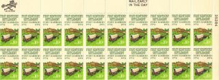 Us Stamp Sheet Scott 1542 1974 10 Cent 20 Count First Kentucky Settlement photo