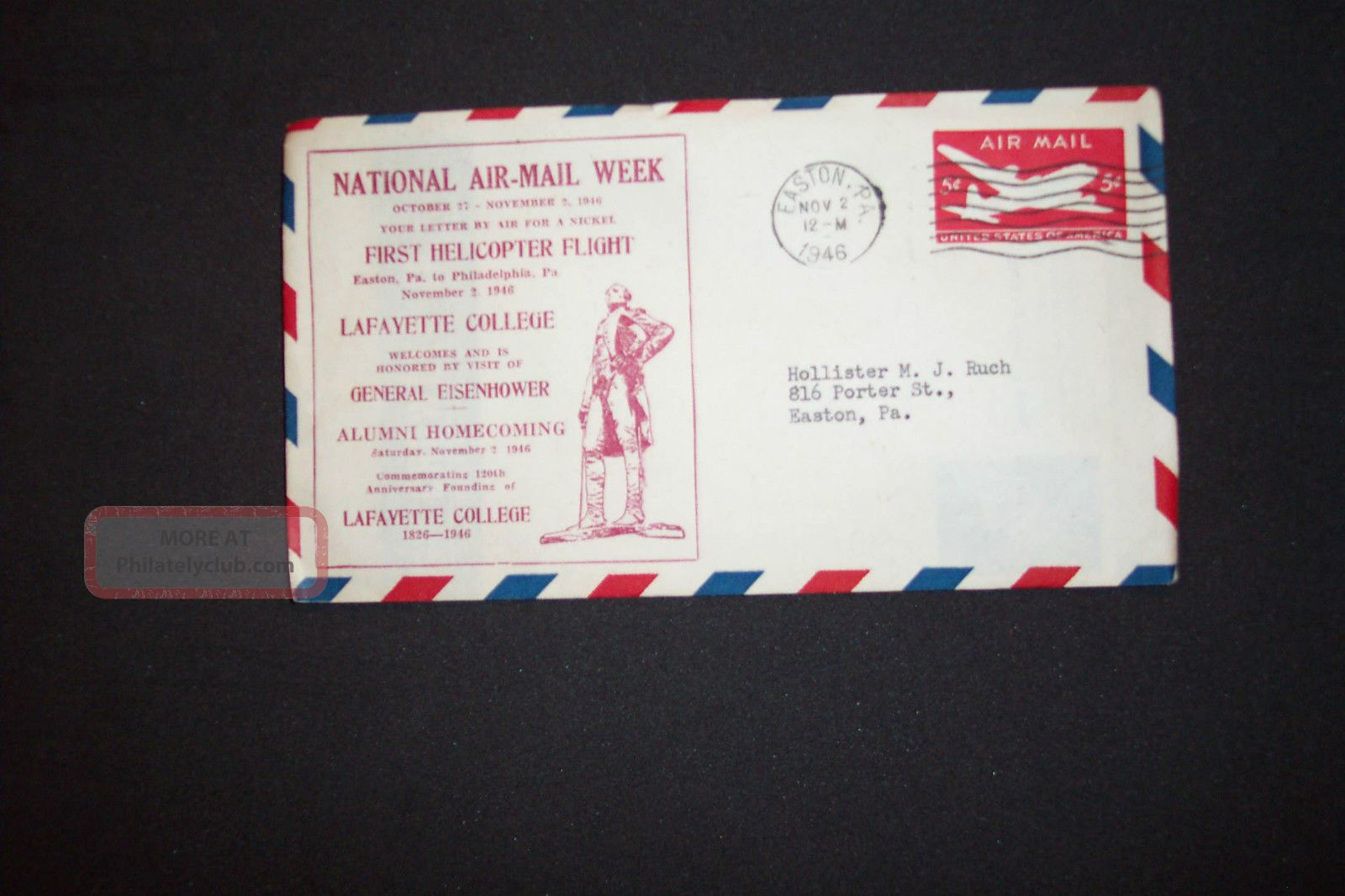 National Air - Mail Week Oct.  27 - Nov.  2,  1946 Scott Uc14 FDCs (pre-1951) photo