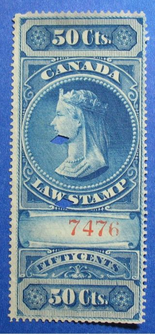1876 50c Canada Supreme Court Revenue Vd Fsc4 Barefoot 4 Cs12399 photo