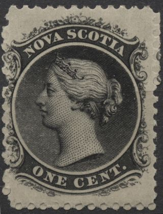Nova Scotia - Scott 8 - 1c Black Issue Of 1860 - Not Hinged photo