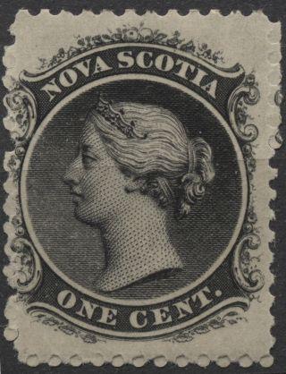 Nova Scotia - Scott 8 - 1c Black Issue Of 1860 - Not Hinged photo