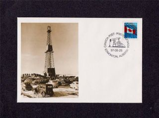 Canada Post 1997 Imperial Oil Company Leduc No.  1 Well Day Of Issue Cover photo