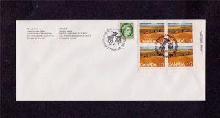 Canada Post Saskatchewan 1999 Philatelic Issue Corner + 2 Cent Qe Ii photo