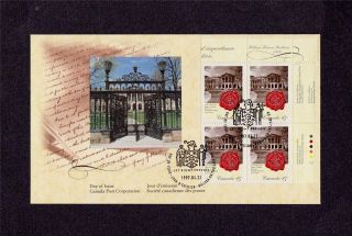 Canada Post 1997 Law Society Of Upper Canada Day Of Issue Cover Corner Block photo