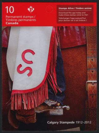 Canada 2547a Booklet Calgary Stampede,  Horse Saddle photo