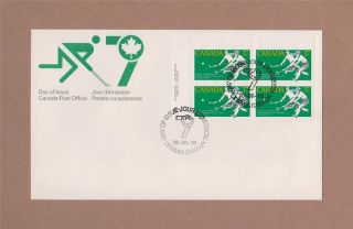 Canada Post 1979 Field Hockey Championships Day Of Issue Cover Corner Block photo