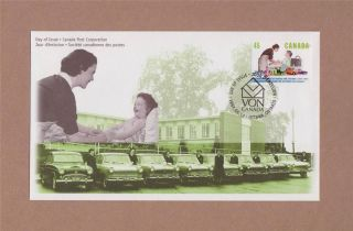 Canada Post 1997 Victoria Order Of Nurses Day Of Issue Cover 100th Anniversary photo