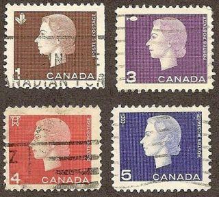 Canada Scott S 401 & 403 - 405,  Queen Elizabeth Ii & Products, ,  1962 - 1963 photo