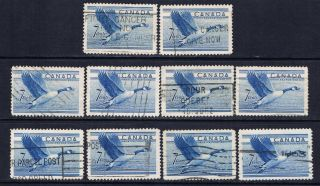 Canada 320 (11) 1952 7 Cent Blue Canada Goose 10 photo