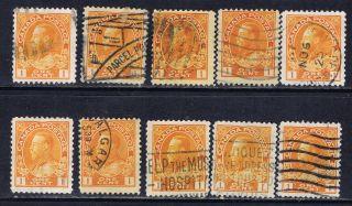 Canada 105 (1) 1922 1 Cent Orange Yellow George V 10 photo