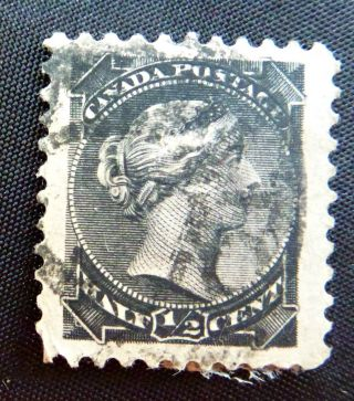 Canadian 1/2 Cent Postage Stamp - Black photo