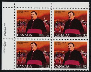 Canada 998 Tl Plate Block Antoine Labelle photo