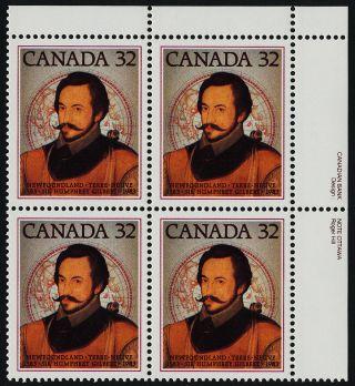 Canada 995 Tr Block Sir Humphrey Gilbert,  Map photo