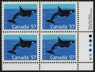 Canada 1173 Bottom Right Block Killer Whale photo