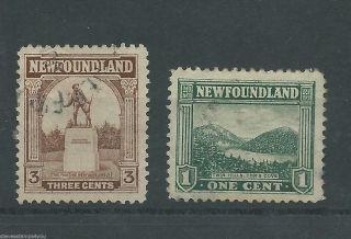 Newfoundland - 1923 To 1924 - Sg149 & Sg151 - Cv £ 0.  30 - photo