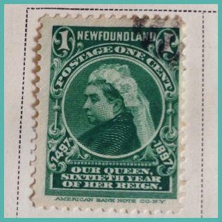 Foundland 1897 400th Anniv.  1 Cent Green As Per Scans photo