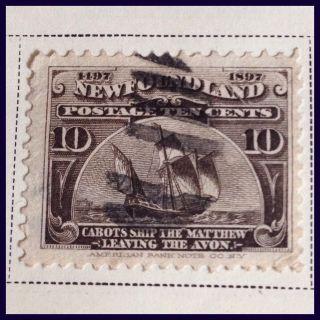 Foundland 1897 400th Anniv.  10 Cent Sepia As Per Scans photo