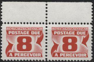 Canada J34ii 8c Carmine Rose - Flrsc Paper Dex Gum - Second Red Dues Issue 1969 photo