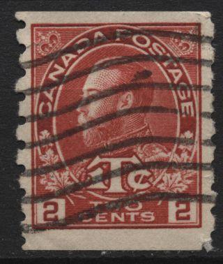 Canada Mr6 2c+1c Coil Stamp,  Carmine Die I War Tax Of 1916 photo