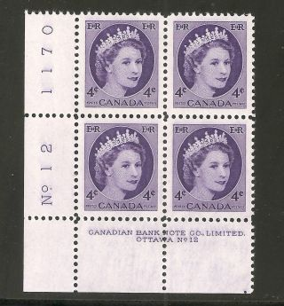 Queen Elizabeth Ii Wilding 4 Cents Pl.  12 Ll 340 Nh photo