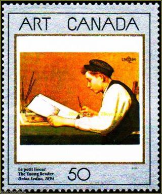 Canada 1988 Canadian Art Ozias Leduc Not Hinged Fv Face 50 Cent Stamp photo