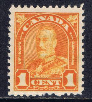 Canada 162 (8) 1928 1 Cent Orange George V Arch Leaf Cv$4.  00 photo