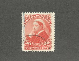 Canada 1893 Scott 46 Small Queen Widow Weed Vf Cv$160 photo