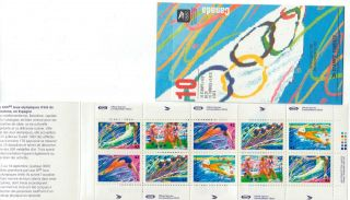 1992 Sc Bk 146d Olympic Summer Games W Area To Left On Co.  Open Cover With Ti photo