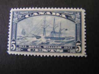 Canada,  Scott 204,  5c.  Value Dark Blue 1933 S/s Royal William Issue photo