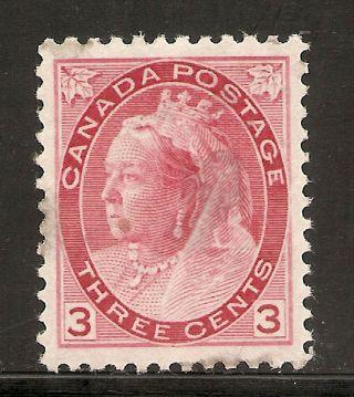 Queen Victoria Numeral 3 Cents Carmine 78 Mh photo