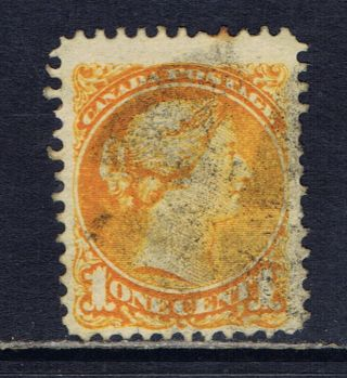 Canada 35a (196) 1 Cent Orange Small Queen Victoria Fancy Cork photo